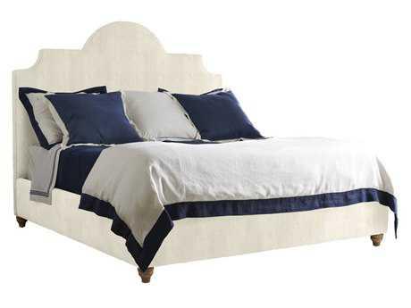 Stanley Furniture Coastal Living Retreat Irish White Herringbone Queen Breach Inlet Upholstered Bed