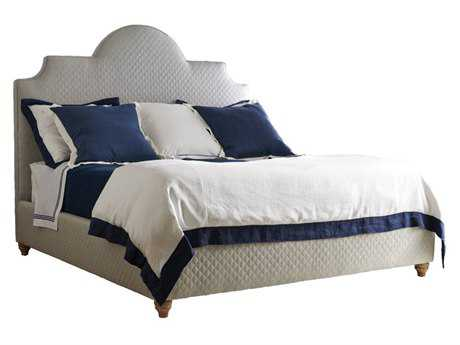 Stanley Furniture Coastal Living Retreat Heron Grey Honey Comb King Breach Inlet Upholstered Bed