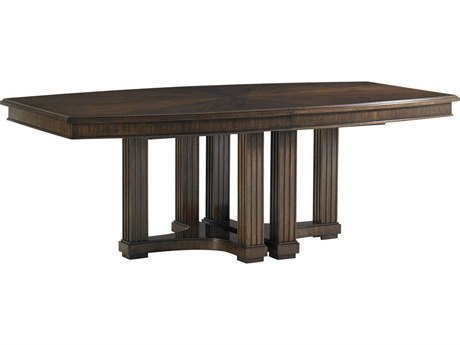 Stanley Furniture Crestaire Porter 84'' x 48'' Rectangular Lola Double Pedestal Dining Table