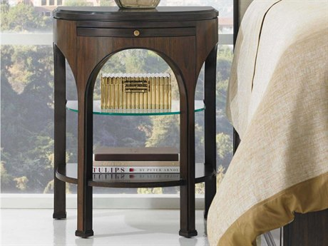 Stanley Furniture Crestaire Porter 22'' x 18'' Demilune Alexander Telephone Table