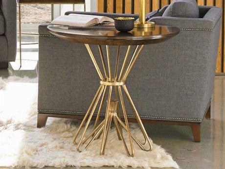 Stanley Furniture Crestaire Porter 30'' Round Milo Round Lamp Table