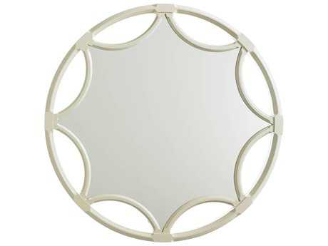 Stanley Furniture Crestaire Capiz 42Dia x 42H Round Amado Mirror