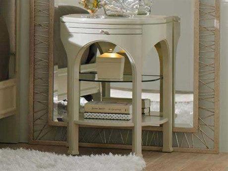 Stanley Furniture Crestaire Capiz 22'' x 18'' Demilune Alexander Telephone Table