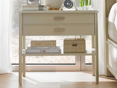Stanley Furniture Crestaire Capiz 30'' x 18'' Rectangular Southridge Bedside Table