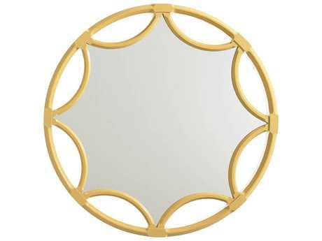 Stanley Furniture Crestaire Saffron 42Dia x 42H Round Amado Mirror