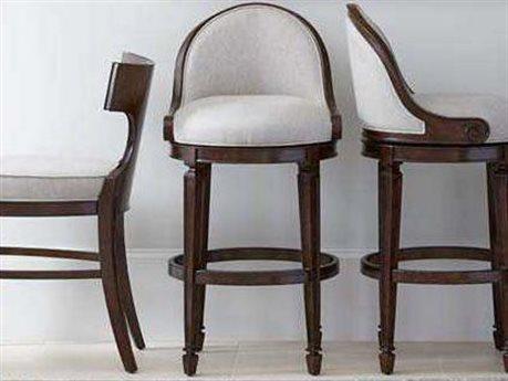 Stanley Furniture Villa Couture Mottled Walnut Como Bar Stool