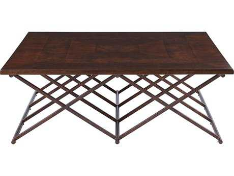 Stanley Furniture Villa Couture Mottled Walnut 54'' Square Rocco Cocktail Table