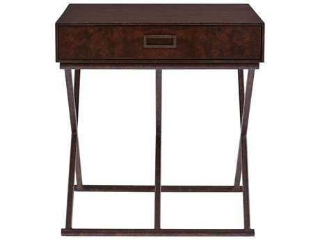 Stanley Furniture Villa Couture Mottled Walnut 26''L x 22''W Rectangular Rocco End Table