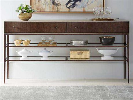 Stanley Furniture Villa Couture Glaze 78.125''L x 16''W Rectangular Serena Sideboard