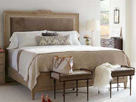 Stanley Furniture Villa Couture Glaze California King Alessandra Upholstered Bed