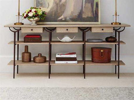 Stanley Furniture Villa Couture Glaze 75''L x 16''W Rectangular Asti Console Table