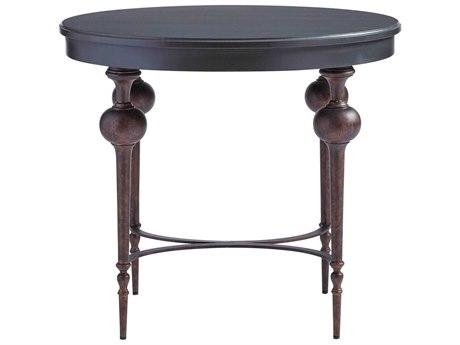 Stanley Furniture Villa Couture Bluestone 31''L x 25''W Oval Adriana Lamp Table