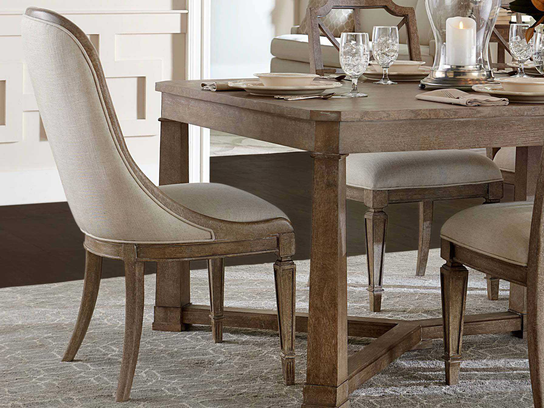 Stanley furniture wethersfield estate dining room set for Stanley furniture dining room sets