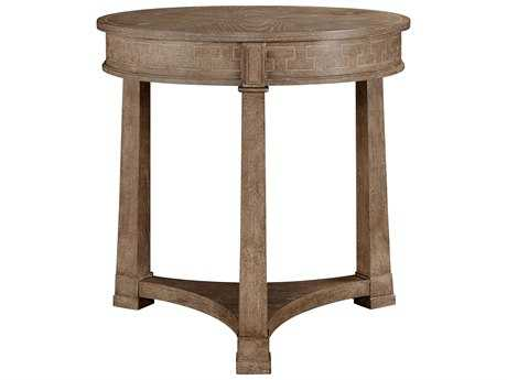 Stanley Furniture Wethersfield Estate Brimfield Oak 28.5'' Round Lamp Table