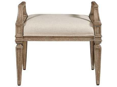Stanley Furniture Wethersfield Estate Brimfield Oak & Fawn Ottoman