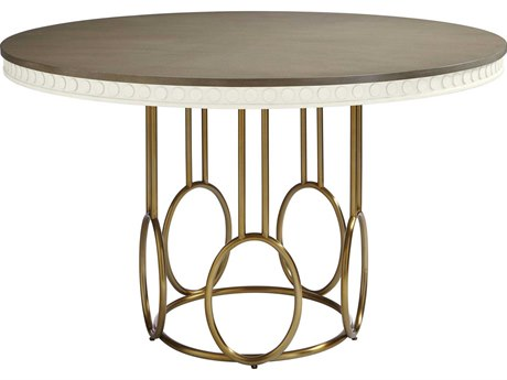 Stanley Furniture Coastal Living Oasis Saltbox White 56'' Round Venice Beach Dining Table