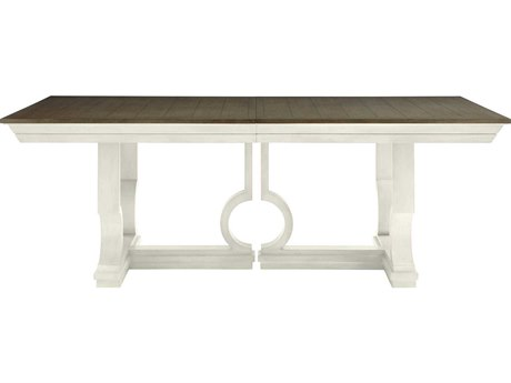 Stanley Furniture Coastal Living Oasis Saltbox White 84''L x 46.5''W Rectangular Moonrise Pedestal Dining Table