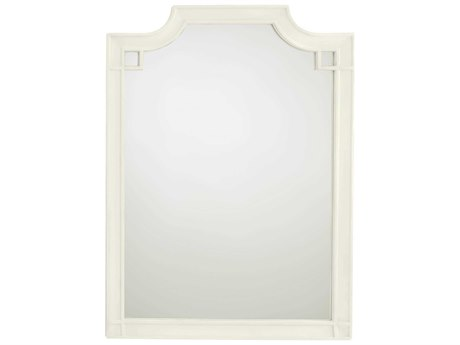 Stanley Furniture Coastal Living Oasis Saltbox White 35''L x 48''H Rectangular Silver Lake Vertical Dresser Mirror