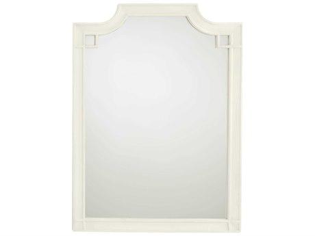 Stanley Furniture Coastal Living Oasis Saltbox White 35''L x 48''H Rectangular Silver Lake Vertical Dresser Mirror