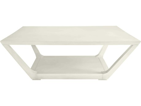 Stanley Furniture Coastal Living Oasis Saltbox White 52'' Square Poseidon Cocktail Table
