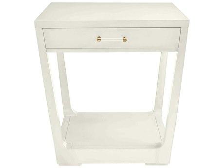 Stanley Furniture Coastal Living Oasis Saltbox White 27'' Square Meridian Lamp Table