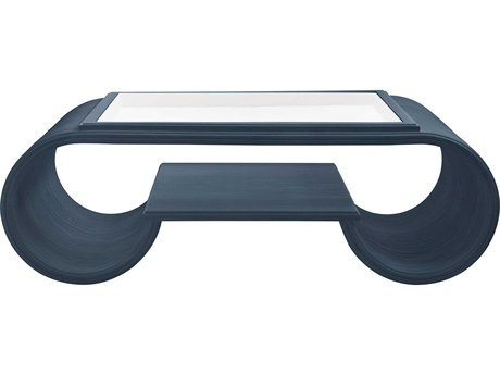 Stanley Furniture Coastal Living Oasis Cotswold Blue 53''L x 26''W Rectangular Legacy Park Cocktail Table