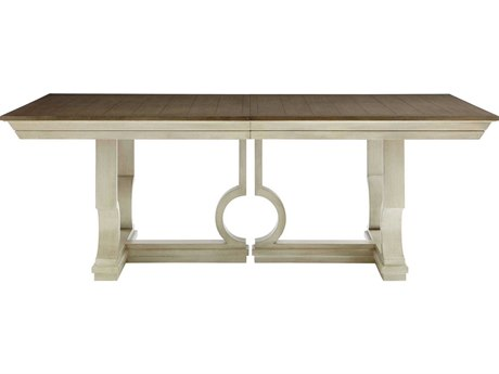 Stanley Furniture Coastal Living Oasis Oyster 84''L x 46.5''W Rectangular Moonrise Pedestal Dining Table