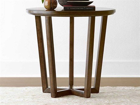 Stanley Furniture Santa Clara Burnished Walnut 28'' Round Lamp Table