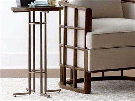 Stanley Furniture Santa Clara Burnished Walnut 16'' Round Martini Table