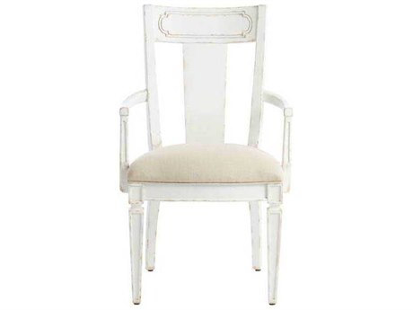 Stanley Furniture Juniper Dell 17th Century White Contemporary Dining Arm Chair