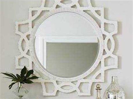 Stanley Furniture Juniper Dell 17th Century White 38''W x 46.5''H Accent Wall Mirror