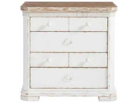 Stanley Furniture Juniper Dell 17th Century White 30''W x 19.125''D Rectangular Nightstand