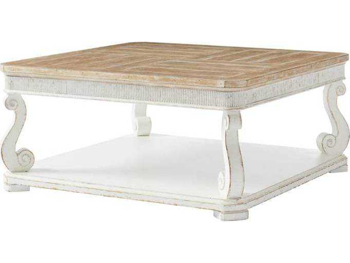 Stanley Furniture Juniper Dell 17th Century White 40 39 39 Square Cocktail Table Sl6152501