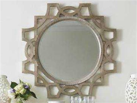 Stanley Furniture Juniper Dell Tarnished Silver Leaf 38'' Mirror Accent Wall Mirror