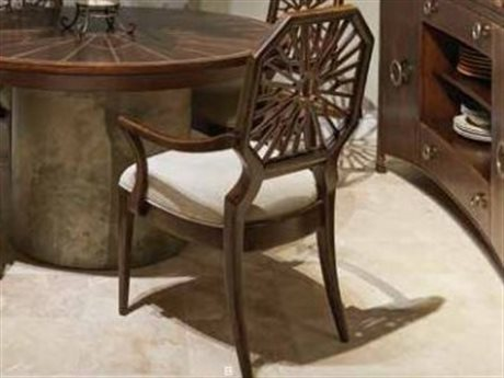 Stanley Furniture Havana Crossing Colonial Mahogany Lasa Dining Arm Chair