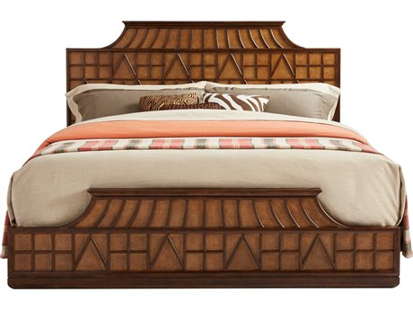 Stanley Furniture Havana Crossing Colonial Mahogany King Amistad Fretwork Panel Bed