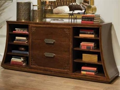 Stanley Furniture Havana Crossing Colonial Mahogany 77''W x 19''D Copa Colonial Media Console