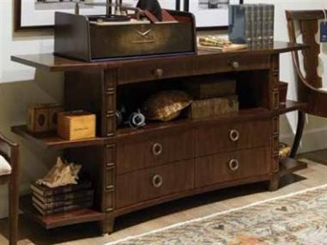 Stanley Furniture Havana Crossing Colonial Mahogany 66''W x 20''D Correspondent's Entertainment Console