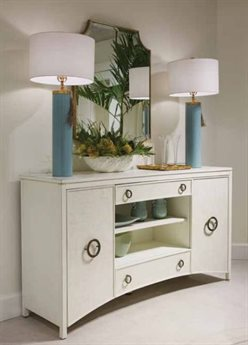 Stanley Furniture Havana Crossing Finca White Promenade Sideboard & Mirror Set