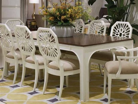 Stanley Furniture Havana Crossing Finca White 109.5''L x 42''W Rectangular Concordia Dining Table