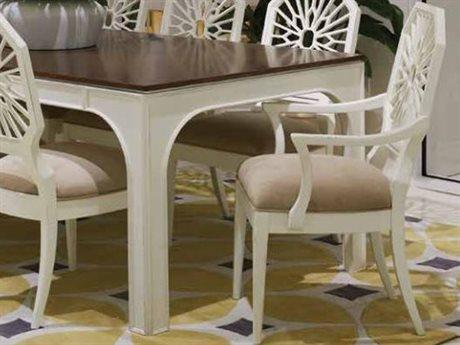 Stanley Furniture Havana Crossing Finca White Lasa Dining Arm Chair