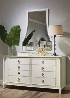 Stanley Furniture Havana Crossing Finca White Villa Virginia Eight-Drawer Dresser & Mirror Set