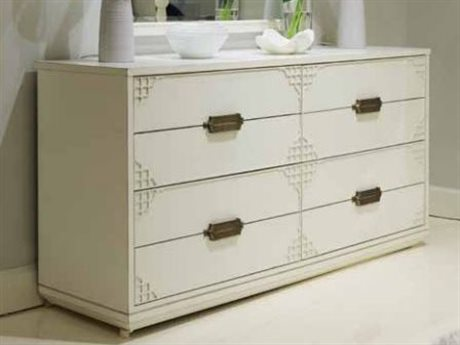 Stanley Furniture Havana Crossing Finca White Copa Colonial Four-Drawer Dresser