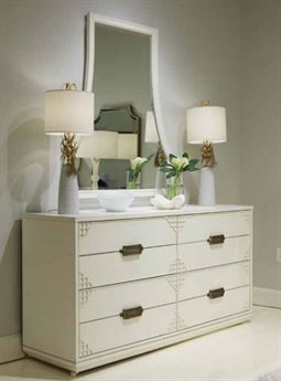 Stanley Furniture Havana Crossing Finca White Copa Colonial Four-Drawer Dresser & Mirror Set