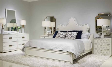 Stanley Furniture Havana Crossing Finca White Panel Bed Bedroom Set