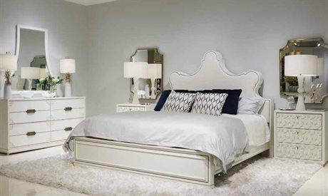 Stanley Furniture Havana Crossing Finca White Panel Bed Bedroom Set