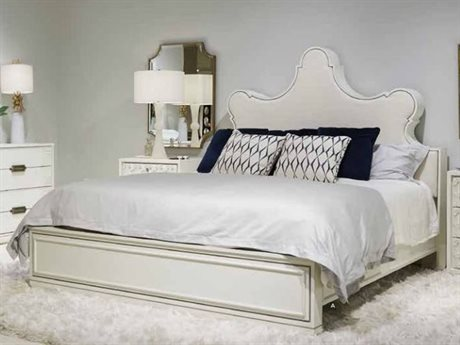 Stanley Furniture Havana Crossing Finca White King Segundo Cabo Upholstered Panel Bed