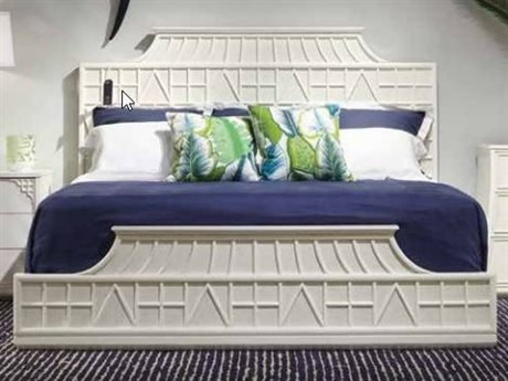 Stanley Furniture Havana Crossing Finca White King Amistad Fretwork Panel Bed