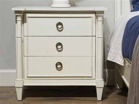 Stanley Havana Crossing Finca White 30''W x 19''D Villa Virginia Nightstand