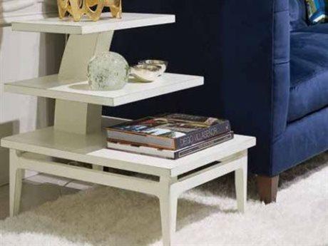 Stanley Furniture Havana Crossing Finca White 20''L x 26''W Rectangular High Dive End Table